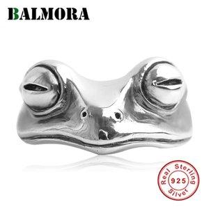 Kadınlar Erkekler Punk Balmora 925 Gümüş Vintage Kurbağa Açık İstifleme Bildirimi Halkalar Moda Takı anillos Soğuk