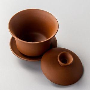 Porcelain Gaiwan Solid Color Tea Bowl with Saucer Lid Kit Master Tea Tureen Teaware Drinkware Decor Chinese Kung Fu Tea Set