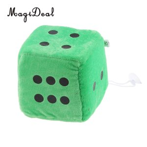 4 inch Soft Stuffed Plush Toys Dice Cube Car Window Mirror Hanger Sticky Decor Birthday Party Favors Novelty Toys Gift 10x10x10