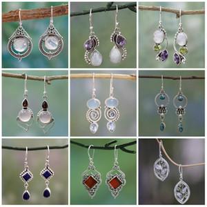 Topaz orecchini di diamanti goccia a spirale di fiori orecchini donna gioielli orecchini anelli di orecchio ciondola lampadario volontà ed il regalo di sabbia