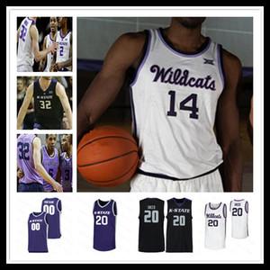 Özel 2020 Erkekler Kansas State Wildcats Basketbol Jersey Koleji XAVIER Sneed DIARRA MAKOL MAWIEN MONTAVIOUS MURPHY DAVID SLOAN Beasley 4XL