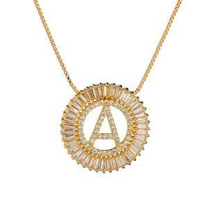 De alta Calidad de Oro Collar Largo Diseñador Blanco Zirconia Cúbica Iniciales Carta Collares pendientes Para Hombres de Las Mujeres Joyería de Dubai CZ Colar