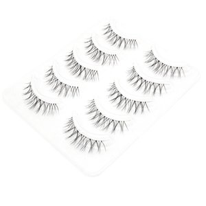 3D Soft Silk Protein False Eyelashes Extension Cross Black Long Full Strip Eye Lashes Makeup eyelash extensions 33