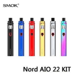 SMOK NORD AIO 22 Kit 2000mah Batteria interna con serbatoio da 3,5 ml Nord Mesh Bobine normali ALL-IN-ONE Design Vape Pen 100% autentiche E-sigarette