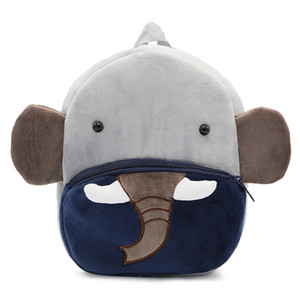 Enfants Peluches Sacs à dos Enfants 3D Cartoon Animal Eléphant Schoolbag Babygarten Bébé Girls Sacs scolaires 35 Designs