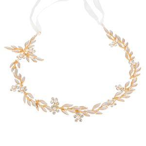 미국 창고 새로운 신부 들러리 리본 머리 장식 다이아몬드 잎 머리 장식 핀 세트 진주 패션 액세서리 쥬얼리 선물