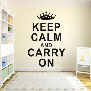 Customized Keep Calm And Carry On..Text Wall Paper Decal Vinyl Waterproof Wall Art Sticker
