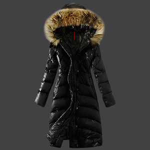 Female Jacket Large Real Raccoon Fur Winter Jacket Women Warm Thicken Hood Winter Coat Women's Cotton Down Parka Plu