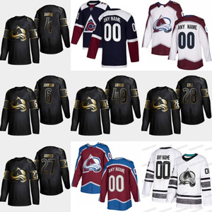 2019 Golden Edition Colorado Avalanche 49 Samuel Girard 28 Ian Cole 27 Ryan Graves 6 Erik Johnson 4 Tyson Barrie Nathan MacKinnon Jersey