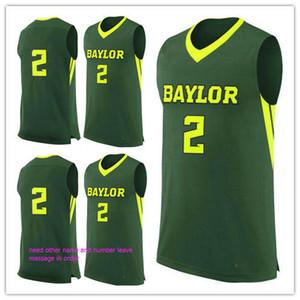 por encargo # 2 Baylor Bears hombre mujer joven camisetas de baloncesto tamaño S-5XL cualquier número de nombre