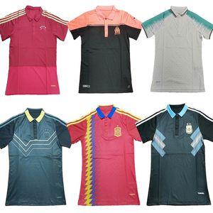 nouveau 18 19 20 21 Bayern Munich AC Milan Allemagne Argentine Polo Espagne Maillot de football 2020 2021 LEWANDOWSKI CITP messi maillot de foot kroos