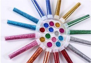 1 96 Metal colors Boxed Glitter Powder PET Hexagon DIY Nail Art Tool Polyester Glitter Powder Bulk A02