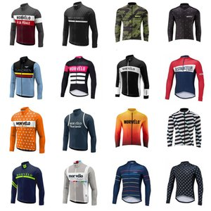 MORVELO Team Cycling Long Sleeves Jersey Cycling Clothing Quick-Dry Cycle Clothes Mountain Bicycle Wear Ropa Ciclismo B616-9