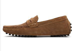 Hot Sale-echte Leder-Schuhe aus Wildleder Loafer große Größe offizieller Schuhe sanft Herren zu Fuß Schuh lässigen Komfort Atem Schuhe für Männer zy801 reisen