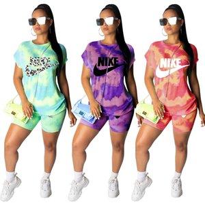 Lettera senza maniche maglietta Donne Designer Canotta dei pantaloni di bicchierini estate tuta di marca Outfits 2Pcs Set Sportwear Abbigliamento sportivo Suit