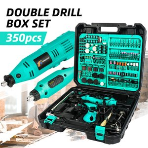 2pcs الإكسسوارات الكهربائية DIY Woodworking Power Variable Speed Rotary Tool mini drill Grender T200324
