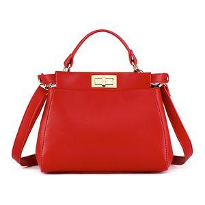 Decent2019 Donna Gattino Monospalla Span Concisa Red Bride Package Borsa piccola borsa Tide