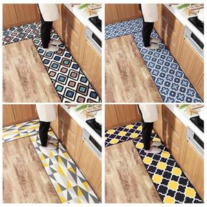 Tappeti geometrici per tappeti WINLIFE Nylon Tappeti per cucina in nylon antiscivolo Tappeti morbidi per soggiorno