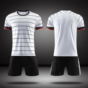Blank Adult and Kids Soccer jerseys 20-21 Shirts+shorts Two Pieces Fashion Tracksuit Uniform survetement football jersey Sets