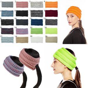 Renkli Örme Tığ twist at kuyruğu Kafa Kış Kulak Isıtıcı Elastik İçin Kadınlar Saç Bandı Geniş Saç Aksesuarları hairband