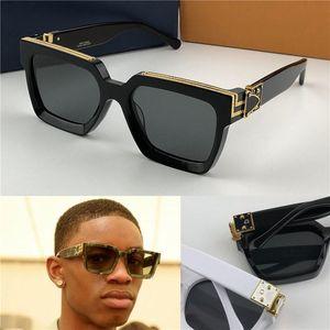 2020 Yeni Erkek Marka Tasarımcı Güneş 96006 Milyoner Kare Kare Vintage Parlak Altın Yaz UV400 Lens Stil Lazer Logo Üst Kalite 1165