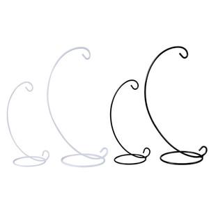 Soporte de exhibición de adorno en espiral inferior Soporte de estante colgante de hierro para planta Adorno de navidad Candelabro Decoración de la boda en el hogar XD20474