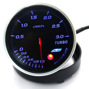 12V Car 64-color Backlight Adjustable 300KPa Turbocharger Gauge High quality turbocharger gauge Strong structure with Sensor r30