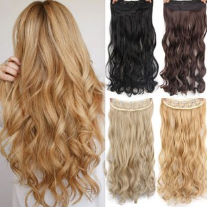 """Synthetic Clip-in One Piece AISI HAIR 22\"""" 15 Colors Long Wavy High Temperature Fiber Synthetic Clip in Hair Extensions for Women"""