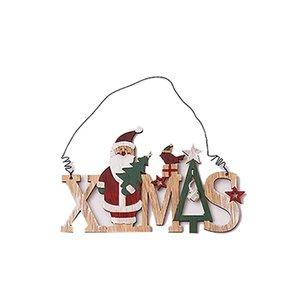 Yaratıcı Noel Dekorasyon kolye Merry Christmas Bells Ahşap Harfler kolye Noel Pencere Süsler
