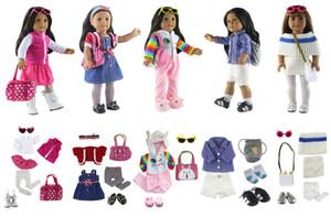 """Venta caliente! 5 juegos de ocio hechos a mano ropa deportiva ropa princesa falda para 18 """"American Girl Doll accesorios"""