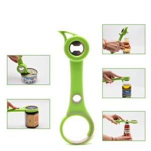 Multifuncional Beer Can Opener Jar abridor de lata do metal do tampão de garrafa abridores Kitchen Garrafas Cover Open Gadget
