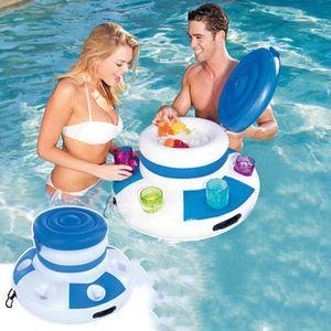 Il materasso gonfiabile del secchiello del ghiaccio del materasso galleggia per i bambini della bevanda della birra di estate dei bambini di divertimento di galleggiamento di galleggiamento dell'isola di divertimento di estate dei giocattoli