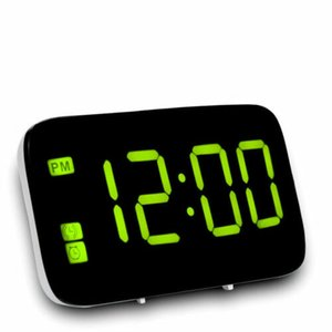 2019 hot sale For Home Office Digital LED Alarm acoustic control sensing Clock Big Screen Snooze Powered Voice Control