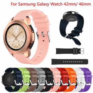 Correa de reloj de silicona suave para Samsung Galaxy Watch 42mm 46mm Reemplazo colorido Muñequeras Correa para Galaxy Smart Watch