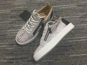 Giuseppe Zanotti GZ shoes casuale modelli esplosione della moda tela scarpe casual retrò casuali di lusso con cerniera scarpe basse sono state aereo e spediti size36-45