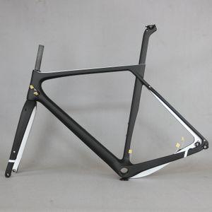 Yeni Aero Karbon cyclocross Bisiklet Kadroları T1000 Karbon Çakıl Bisiklet Çerçeve Disk Fren Yol Karbon Frameset Hafif