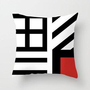 Nouveau abstrait géométrique coussins décoratif Cas Marbre Motif Fleur Designer Coussin Blanc et Gris Noir Cheap couverture 44 * 44 cm