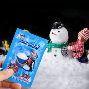 Natal Prop 1bag Neve Artificial instantâneo Fluffy Snowflake Decoração Super Absorvente Neve mágica Artificial Partido Home Decor I