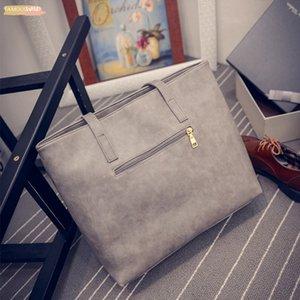 2020 Fashion Pu Women Leather Handbag Brief Shoulder Bags Solid Large Capacity Handbags Tote Bag Design For Female