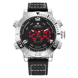 WEIDE Mens Casual Horloge militaire Quartz numérique Affichage numérique bracelet en nylon camouflage Wristwatch Relogio Masculino de hombre