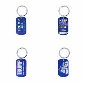 Trump Keychain Key chains Necklace Stainless Steel Trump Tag Keep America Great Keyring 2020 Donald Trump Train Key chains IIA2
