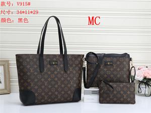 Europa borsa delle donne di alta capacità di spalla di cuoio di viaggio Messenger bag 3 unids / set bag Madre pacchetto