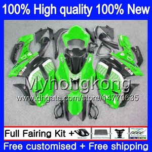 Corpo + 8Gifts para a Kawasaki ZX 6R 6 R 600cc ZX636 2007 2008 209MY.4 ZX636 ZX600 600 ZX6R 07 08 ZX 636 ZX6R 07 08 carenagens Top Green Gloss
