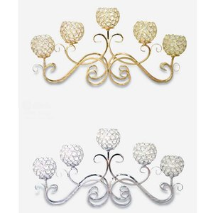Umweltfreundlich Peandim romantische Weinlese-Hauptdekor Hochzeit Dekorationen Kristall Hochzeit Mittelstück Kerzenhalter