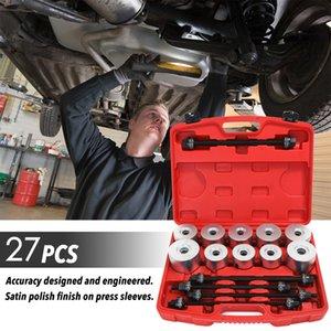 27PCS Conjunto de bujes de coche Desmontaje de cojinetes Herramientas de reparación de automóviles Juegos de hierro Extractor de manga de goma Chasis Prensa Kit de manga de extracción