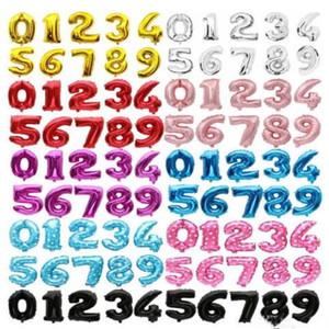 Forma número hélio balão de ar 0-9 número Balão Moda casamento colorido do partido decorações de casamento Party Supplies WY375Q