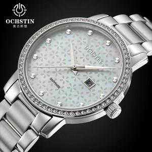 Ochstin Top-Marken-Frauen elegante Quarz-Uhr-Art- Kalender High-End-wasserdichte Armbanduhr mit Diamanten Relogio