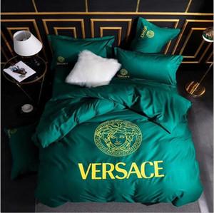 Di trasporto di lusso di vendita nuova casa Duvet Cover Bedding Set Hot europea / regina / re Full Size caldo morbido Copripiumino