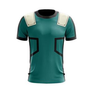 New Style Anime Fashion 3D Street Cartoon My Hero Academia Superhero Casual Short Sleeve Crew Neck Shirt Tee T-shirt