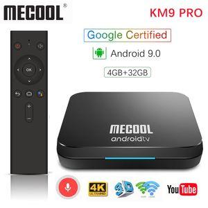 Mecool KM9 Pro ATV 4G 32G Android 9.0 TV Box Google certifié Amlogic S905X2 2.4 G / 5G Wifi Androidtv 9.0 Smart TV Box